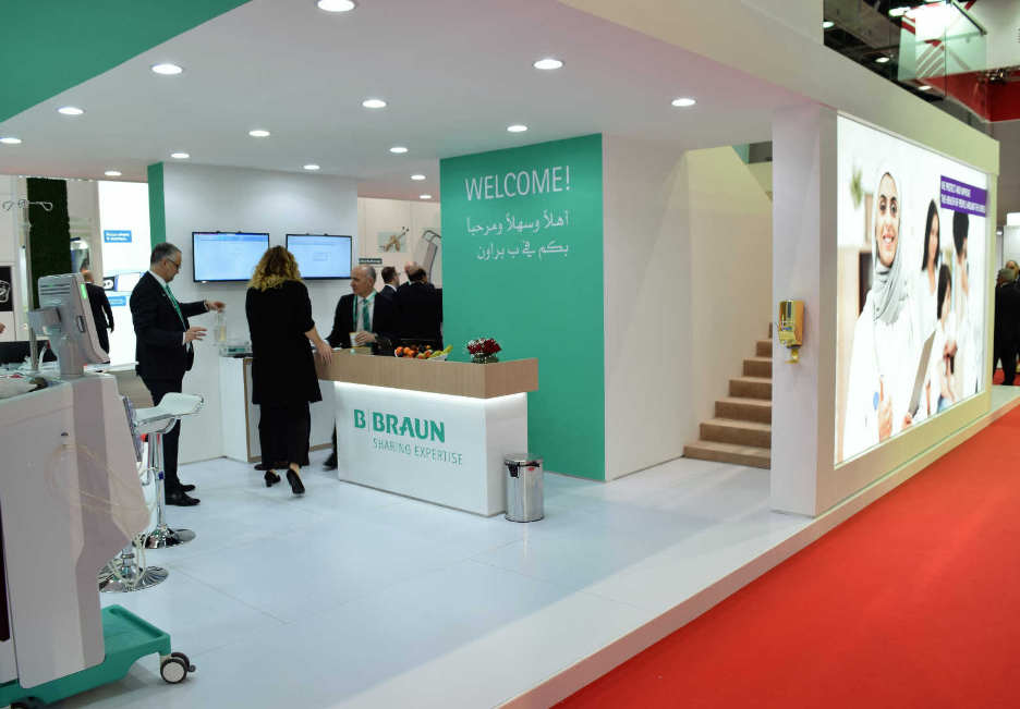 B. Braun Messestand in Dubai zur ArabHealth