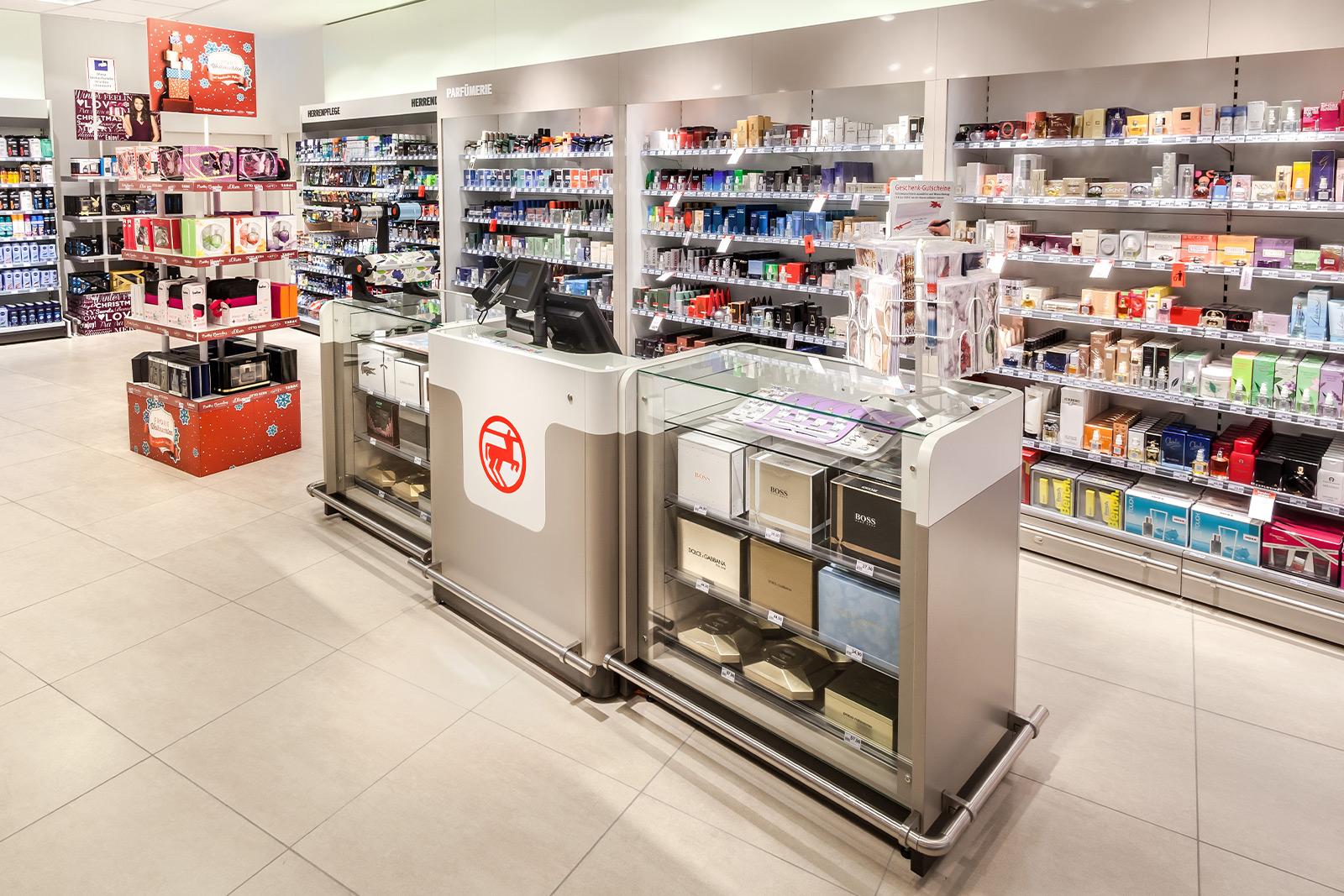 Stationäre Markenwelt - Rossmann Verkaufsstätte - Parfümtheke