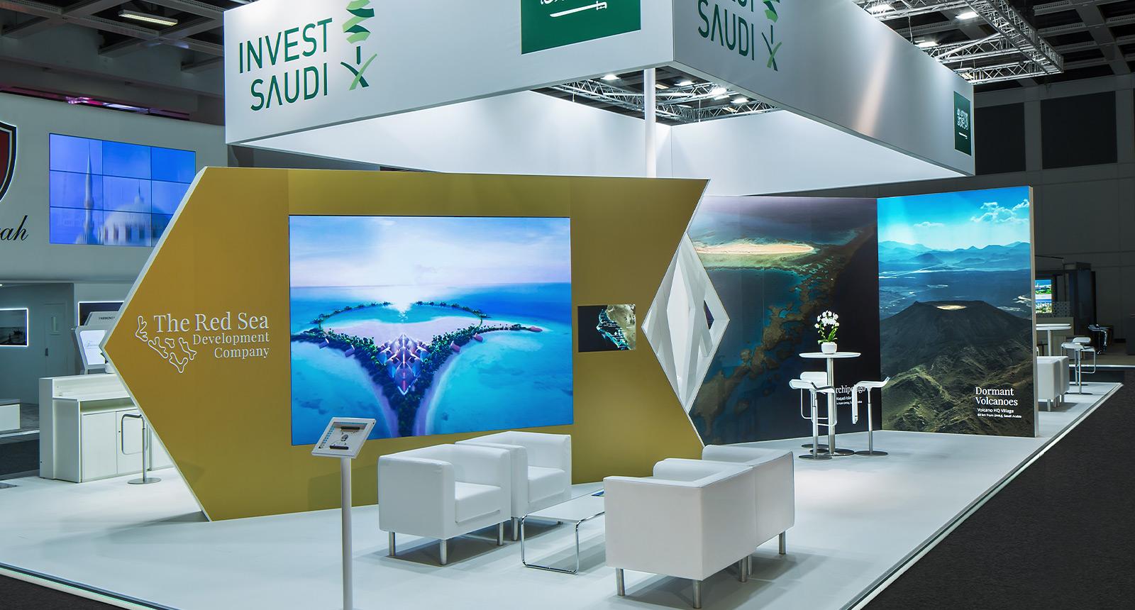 Temporäre Markenwelt - Invest Saudi zur ITB 2019