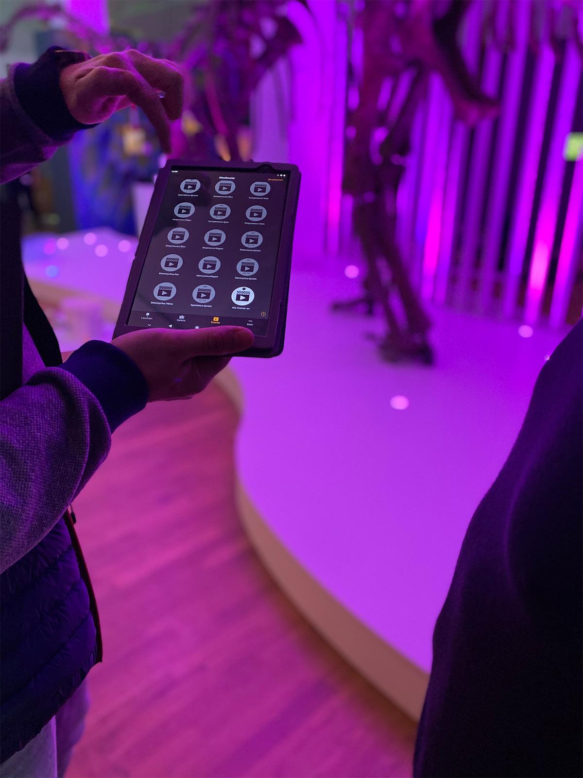Museums- Ausstellungsbau Lichtsteuerung
